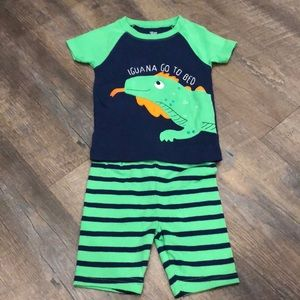 Carter's Iguana Pajamas - 2T